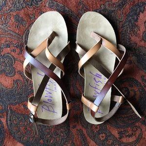 Blowfish Shoes | Rose Gold Blowfish Granola Sandal